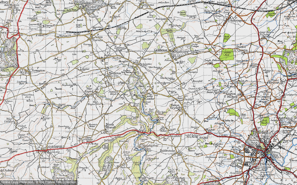 Old Map of Castle Combe, 1946 in 1946