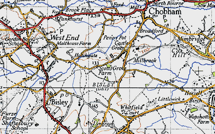 Old map of Castle Green in 1940