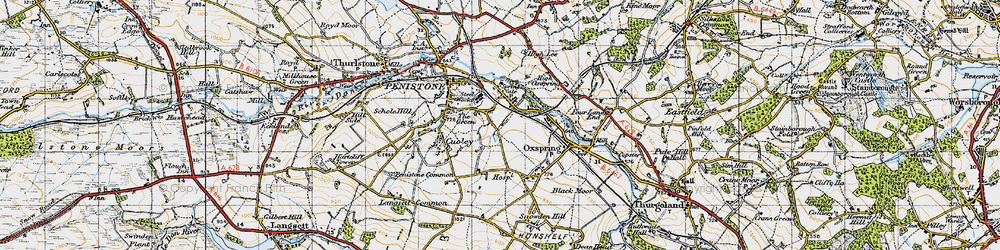 Old map of Castle Green in 1947