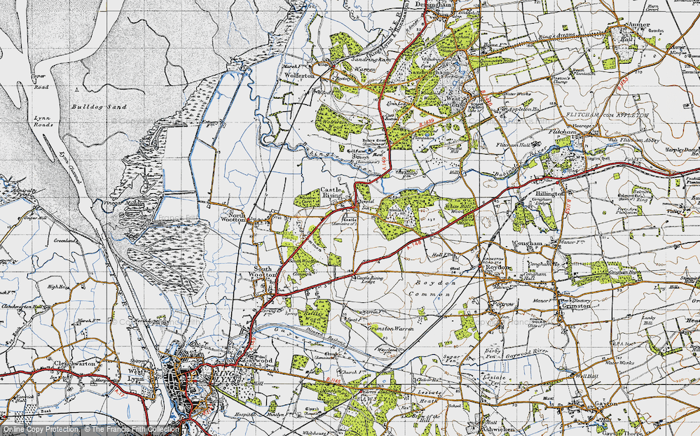 Old Map of Castle Rising, 1946 in 1946