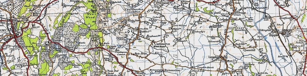 Old map of Castlemorton in 1947