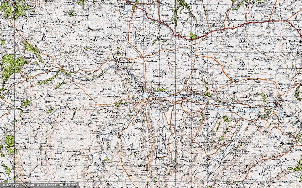 Old Map of Castleton, 1947 in 1947