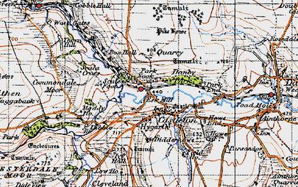 Old map of Castleton in 1947