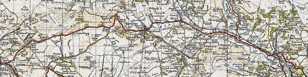 Old map of Limestone Way in 1947