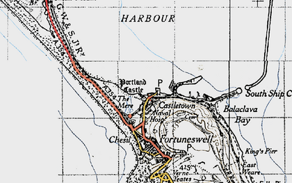 Old map of Balaclava Bay in 1946