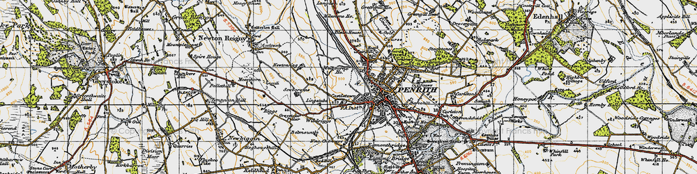 Old map of Wildriggs in 1947