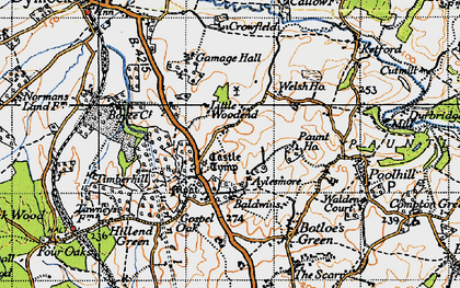 Old map of Aylesmore in 1947