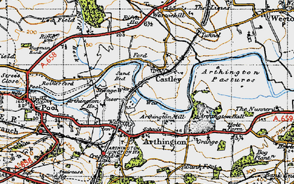 Old map of Arthington Ho in 1947