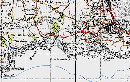 Old map of Whiteshell Point in 1947