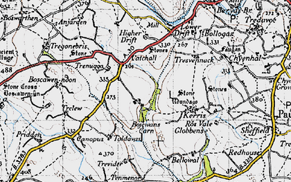 Old map of Catchall in 1946