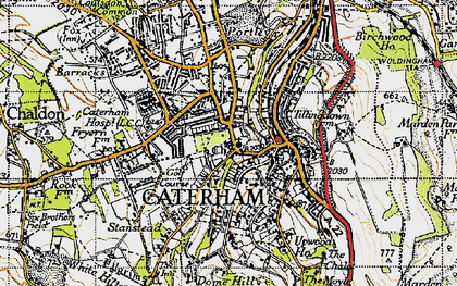 Old map of Caterham in 1946