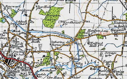 Old map of Barber's Coppice in 1947