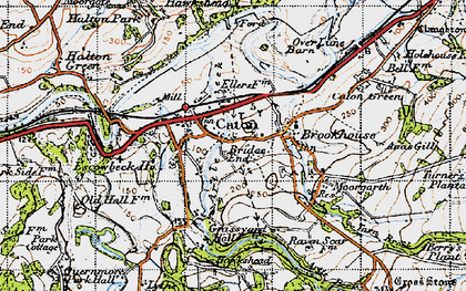 Old map of Caton in 1947