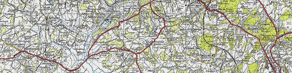 Old map of Tilton in 1940