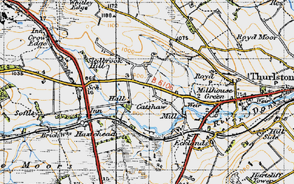 Old map of Catshaw in 1947