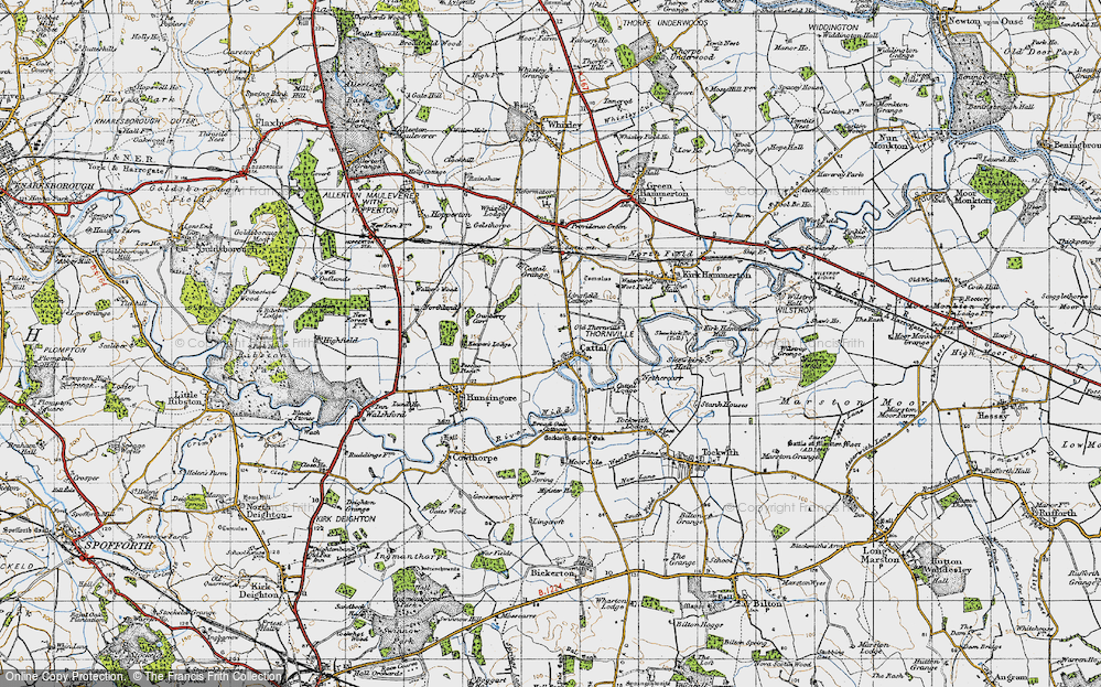Old Map of Historic Map covering Lingfield Cottage in 1947