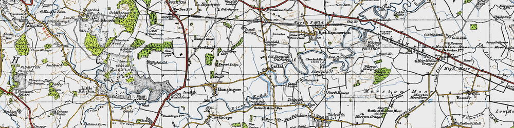 Old map of Lingfield Cottage in 1947