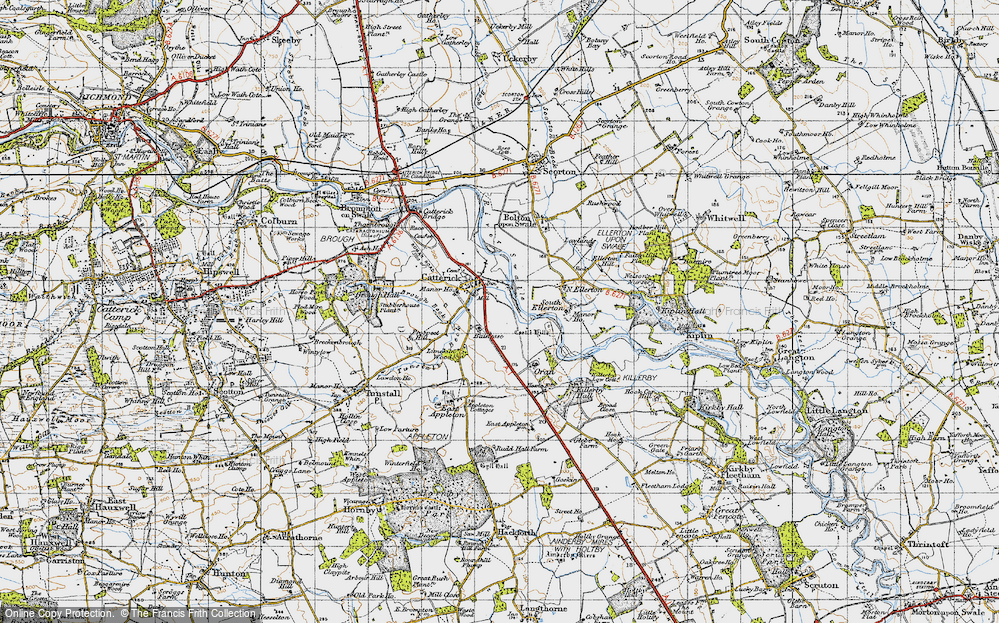 Old Map of Catterick, 1947 in 1947