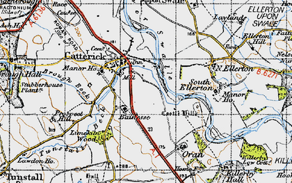 Old map of Catterick in 1947