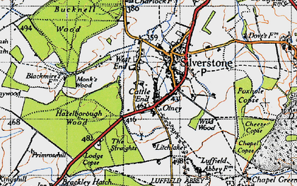 Old map of Wetley's Wood in 1946
