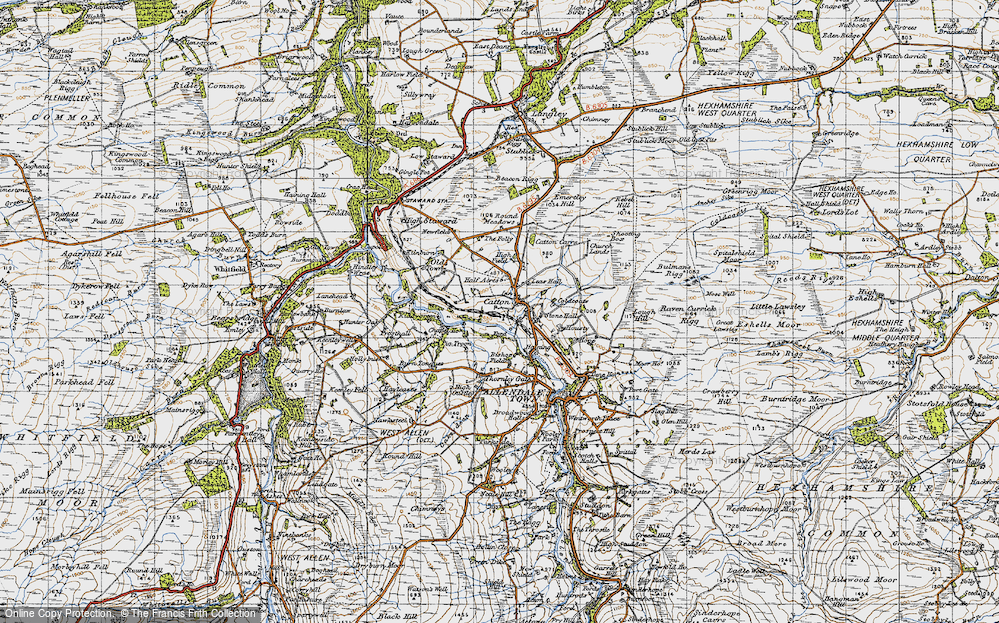 Old Map of Catton, 1947 in 1947