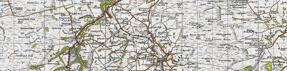 Old map of Wide Eals in 1947