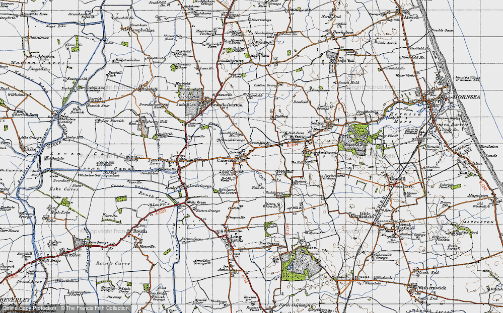 Old Map of Catwick, 1947 in 1947