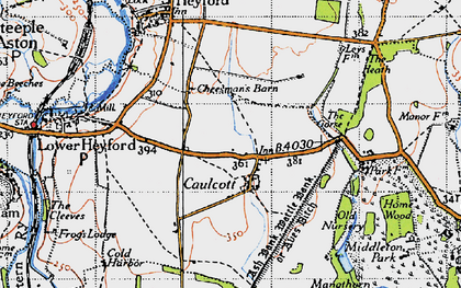 Old map of Aves Ditch in 1946