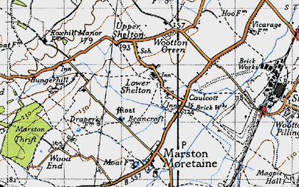 Old map of Caulcott in 1946