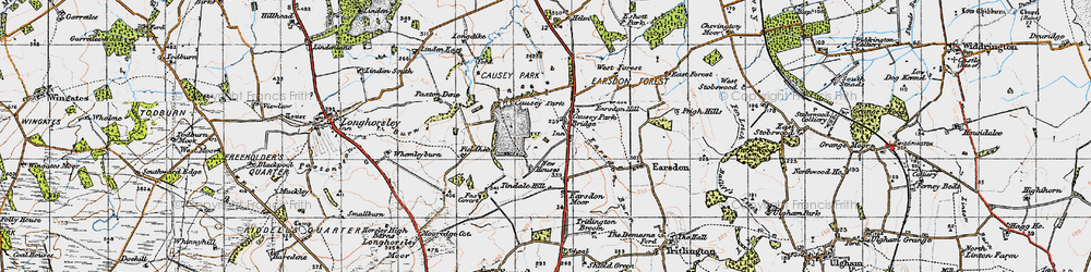 Old map of Tindale Hill in 1947