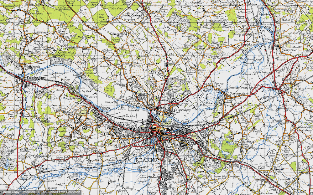 Old Map of Caversham, 1947 in 1947