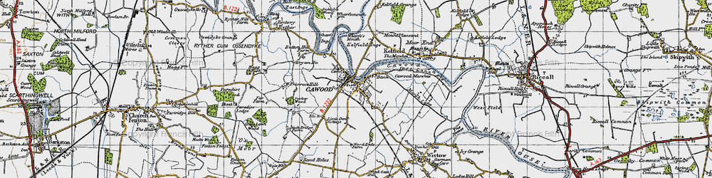 Old map of Wharfe's Mouth in 1947