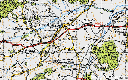 Old map of Cawthorne in 1947