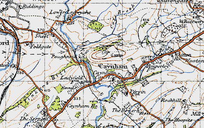 Old map of Ledwyche Brook in 1947