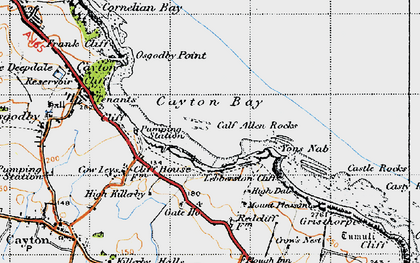 Old map of Cayton Bay in 1947