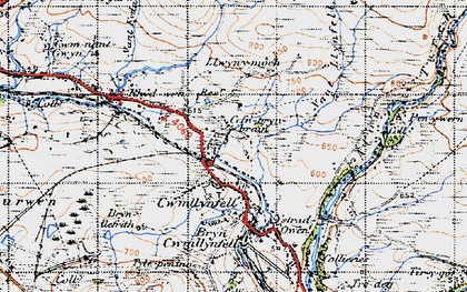 Old map of Aman Fawr in 1947