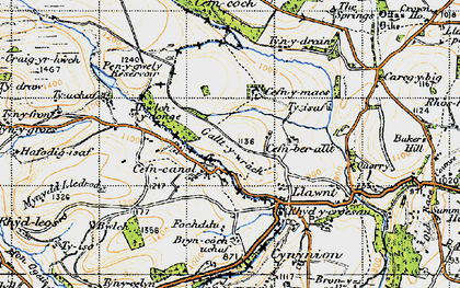 Old map of Cefn Canol in 1947