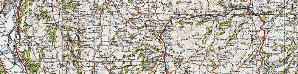 Old map of Ynys Rhys in 1947