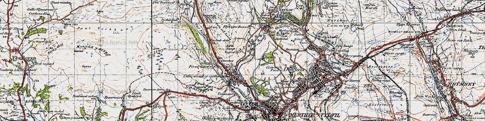 Old map of Wyrlod-ddu in 1947