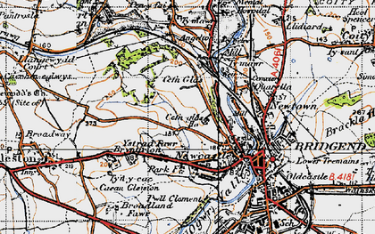 Old map of Cefn Glas in 1947