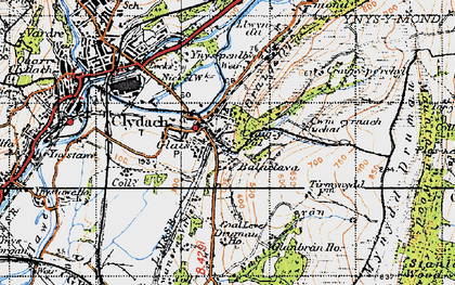Old map of Cefn-y-Garth in 1947