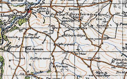 Old map of Cefn-y-pant in 1946