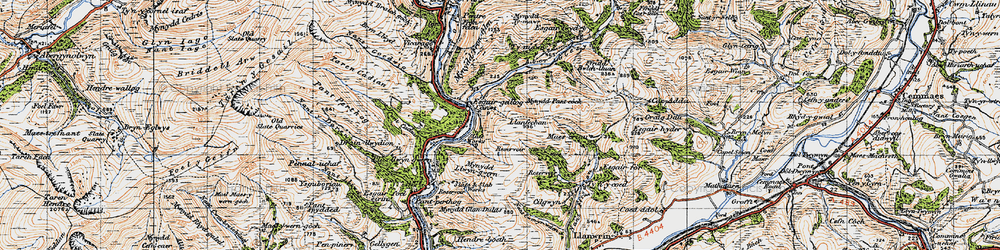 Old map of Aber Glesyrch in 1947