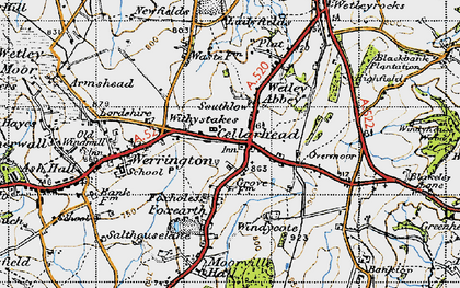 Old map of Windicott in 1946