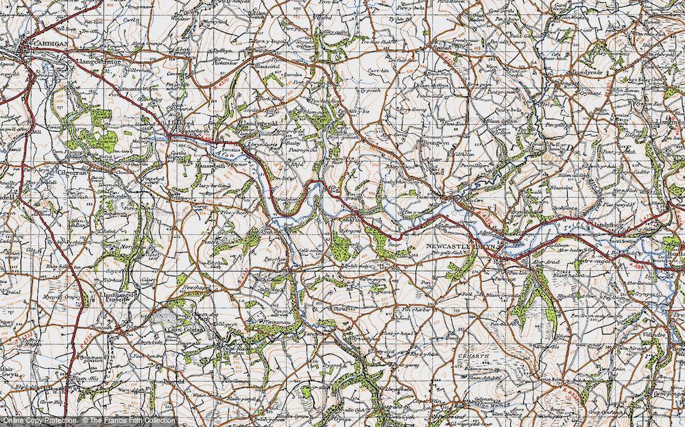 Old Map of Cenarth, 1947 in 1947