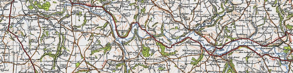 Old map of Alltybwla in 1947