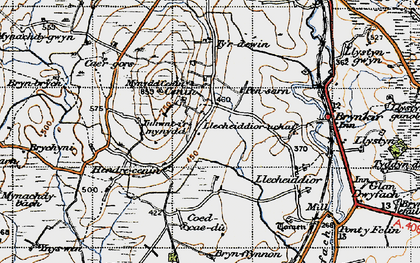 Old map of Cae Gors in 1947