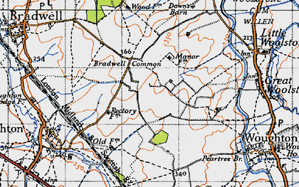 Old map of Central Milton Keynes in 1946