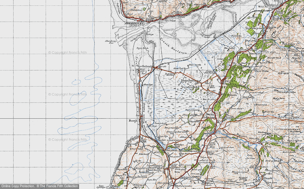 Old Map of Historic Map covering Afon Leri in 1947