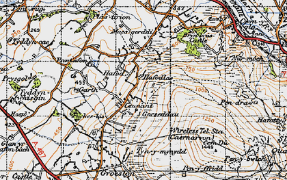 Old map of Y Garth in 1947